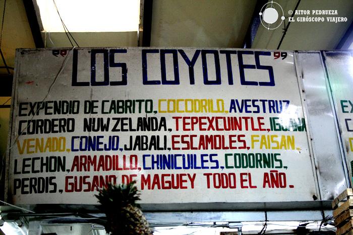Todo tipo de carne en el mercado de Coyoacán