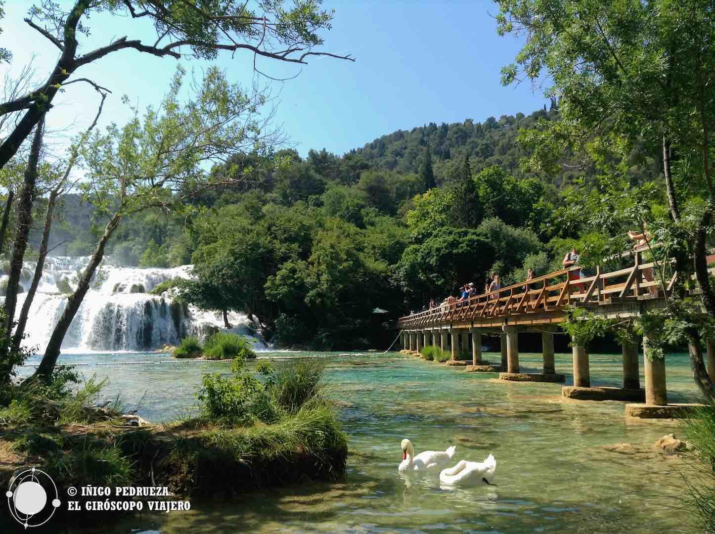 Una postal de las cascadas