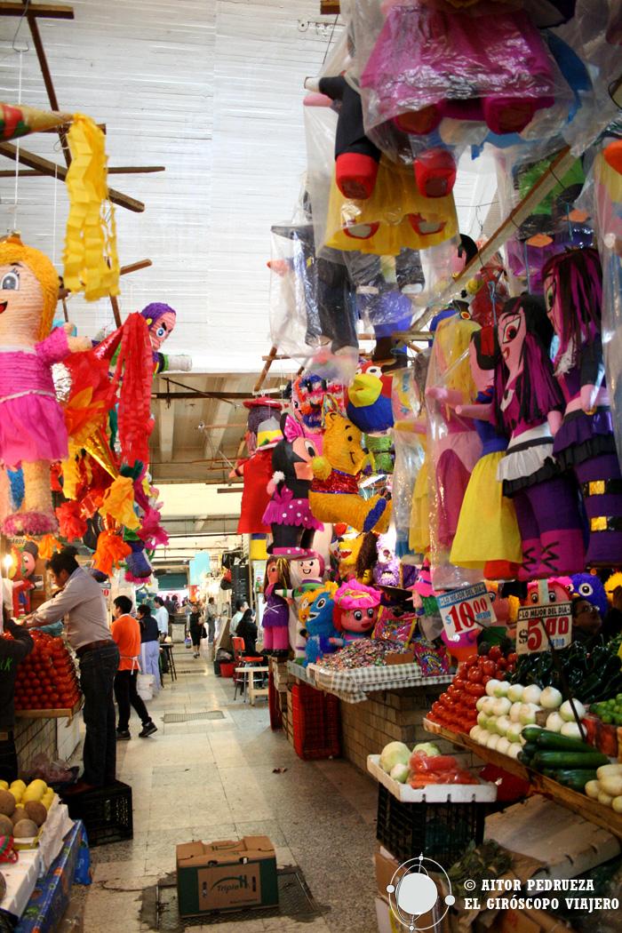 Puestos del mercado de Coyoacán