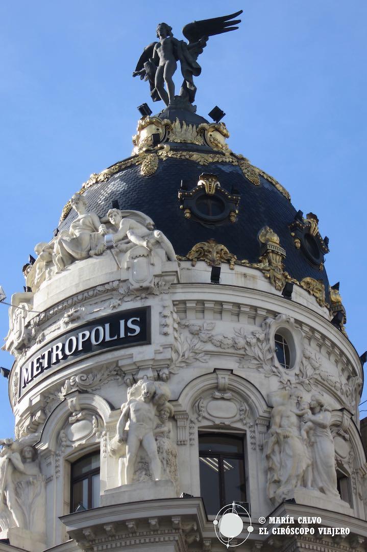 La cúpula del edificio Metrópolis