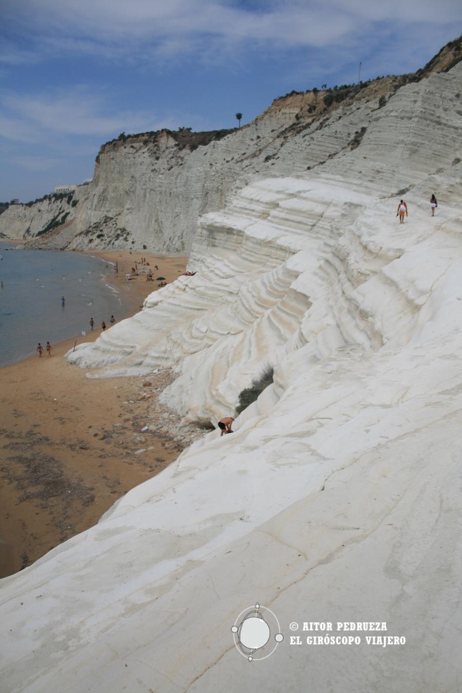 El espectacular acantilado de marga, una roca calcárea