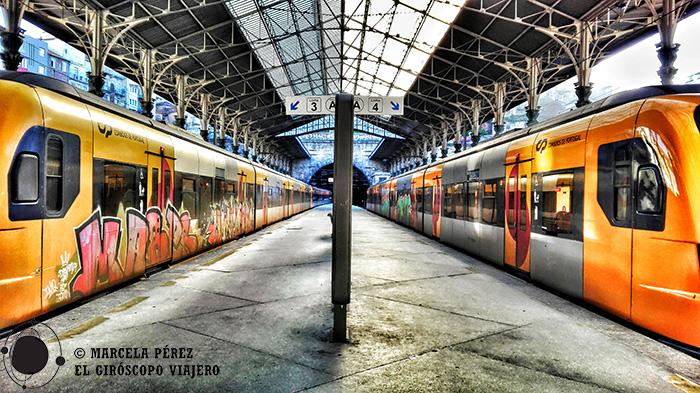 El tren que nos llevaria a Aveiro aguardándonos