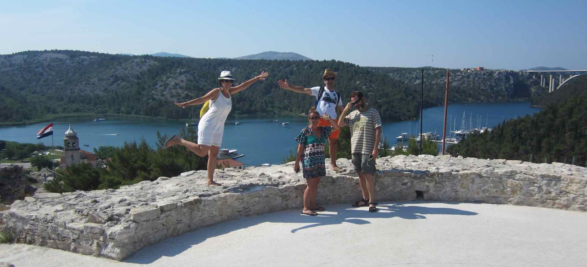 Saludo giroscópico desde Skradin, Croacia