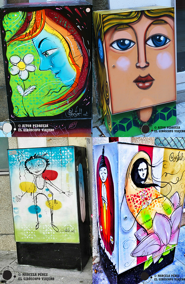 El arte plasmado en los buzones le da vida y color a las callejuelas