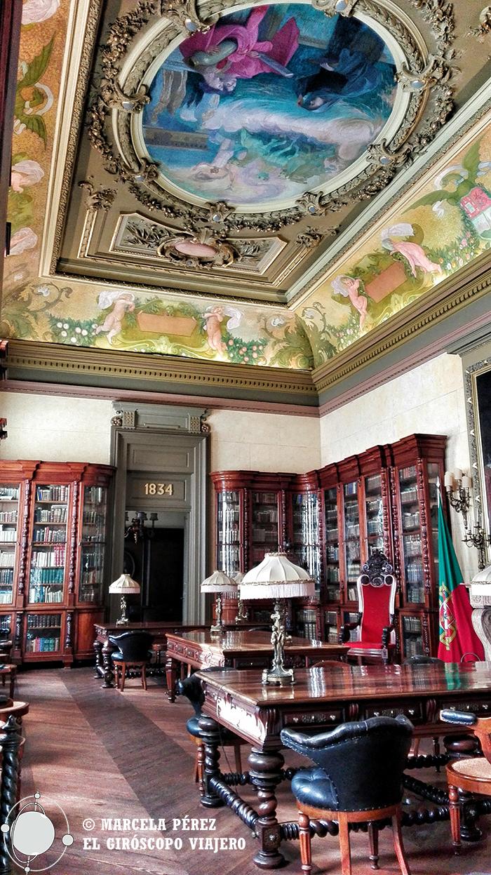 Una vista de una de las salas interiores del Palacio de la Bolsa
