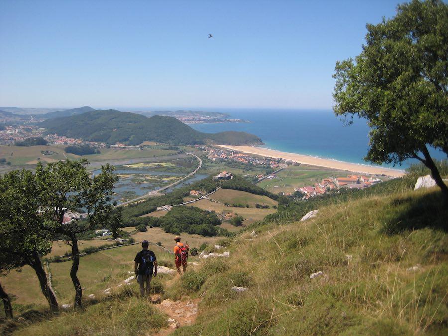Bajada hacia el Fuerte del Mazo, las vistas continúan siendo espectaculares