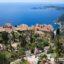 Vistas al Mediterráneo desde el Jardín exótico de Eze, Costa Azul