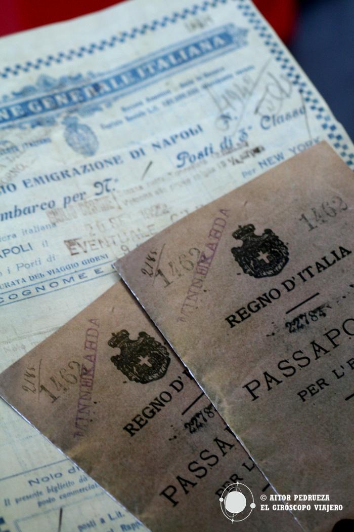 Pasaporte para el embarque del viaje interactivo en el Museo Galata