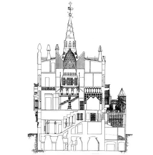 Plano del Palau Güell