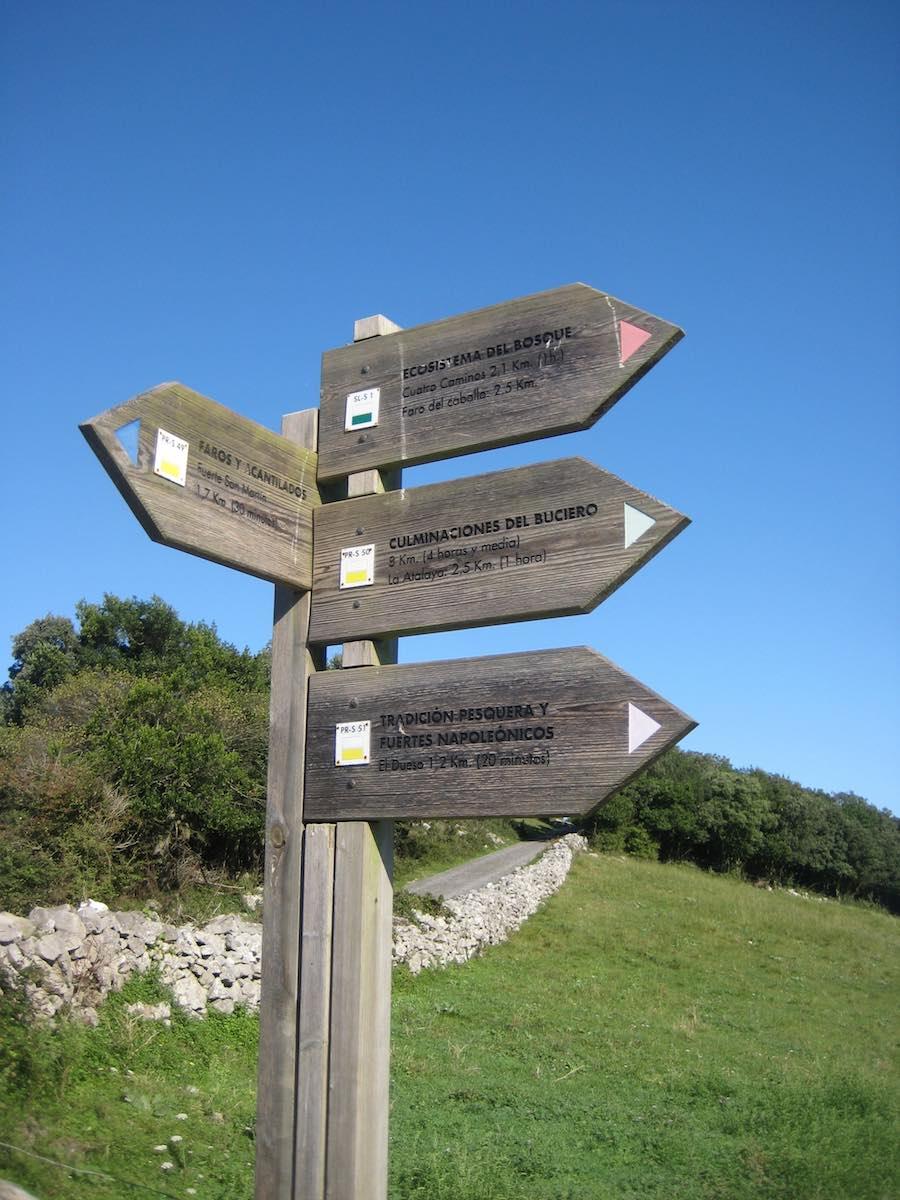 Las diferentes rutas al Monte Buciero