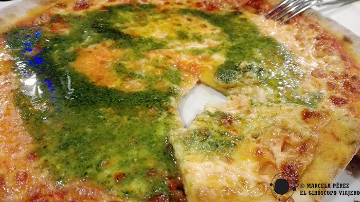 ¡Pizza y pesto!