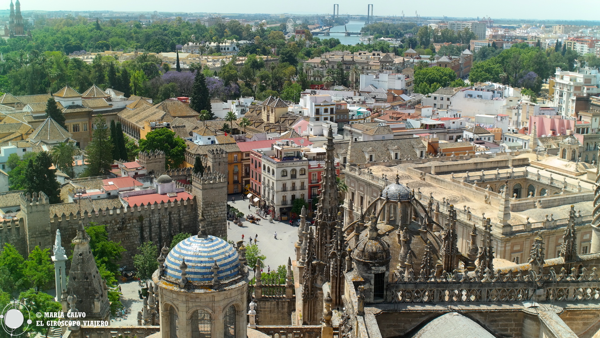 Magníficas vistas de Sevilla desde la Giralda