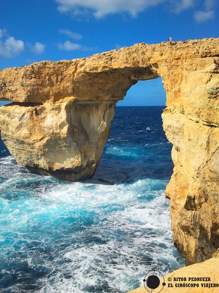 El arco de Azure Window en Malta