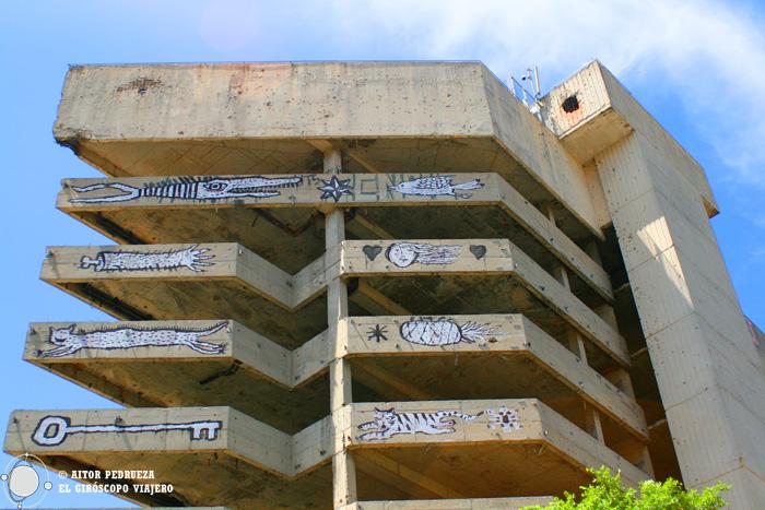 Edificio desde donde disparaban los francotiradores