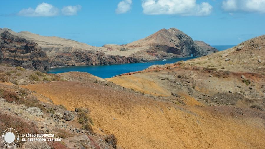 Ruta de senderismo en la la península de São Lourenço en Madeira. ©Iñigo Pedrueza.