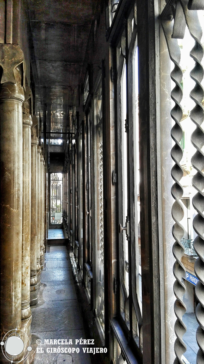Interior del Palau Güell. Mirador hacia la calle
