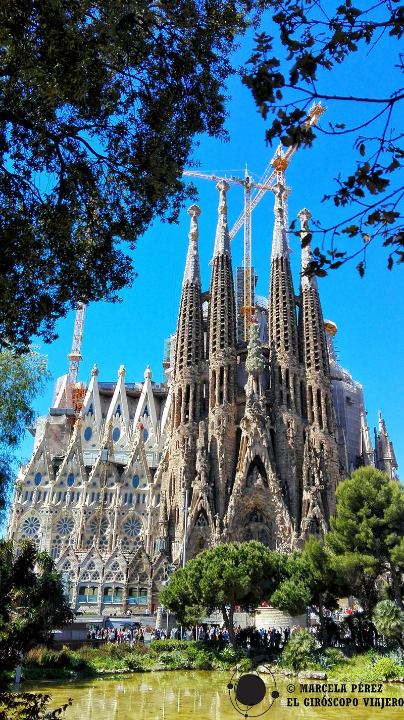 La Sagrada Familia vista desde la Fachada del Nacimiento