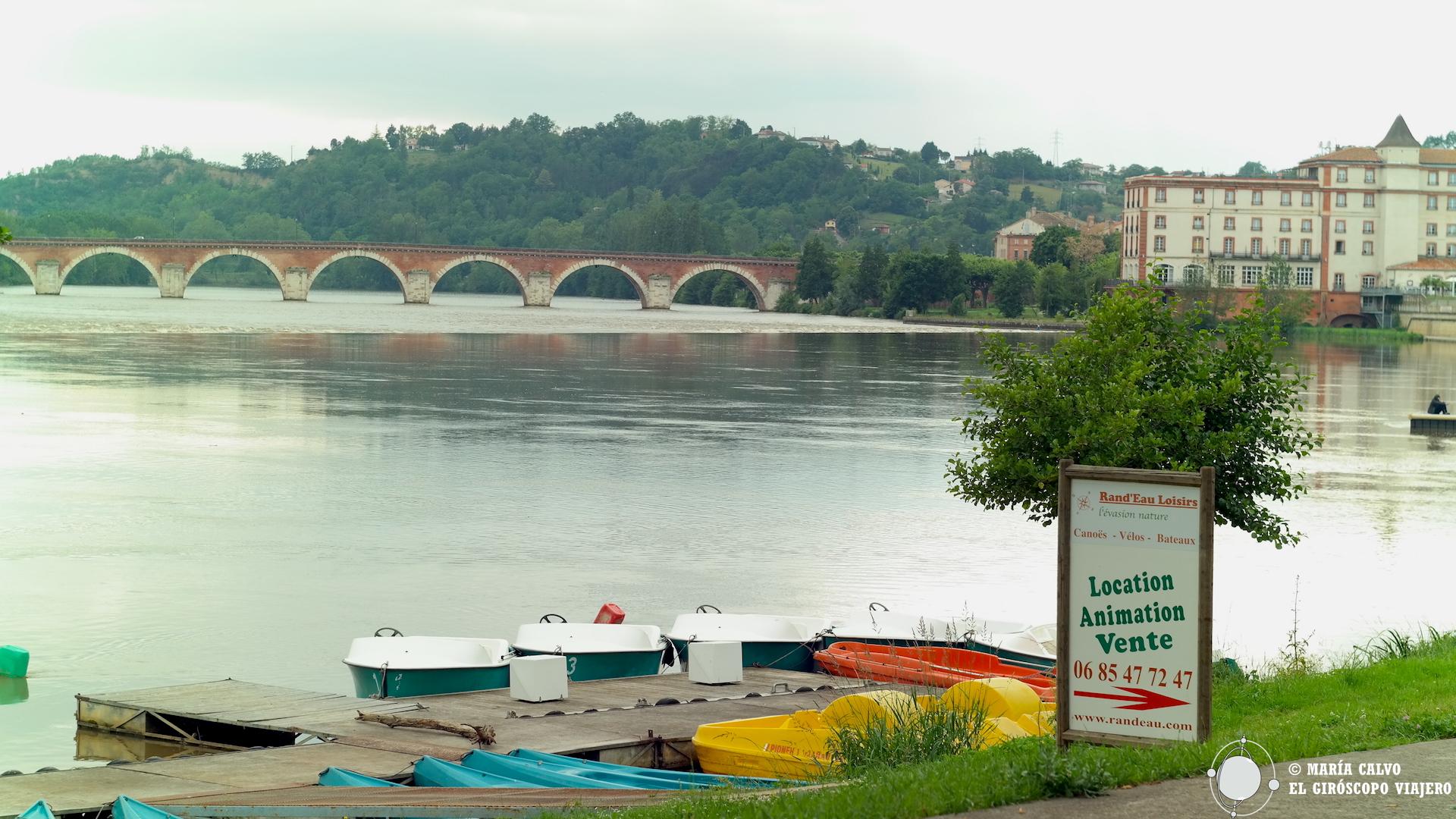 Alquiler de bicicletas, barcas, canoas,...en Moissac