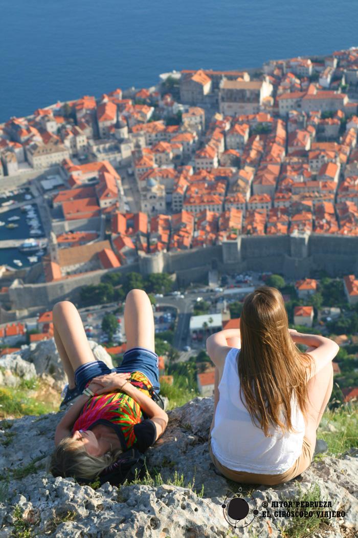 Vista de Dubrovnik desde lo alto del teleférico