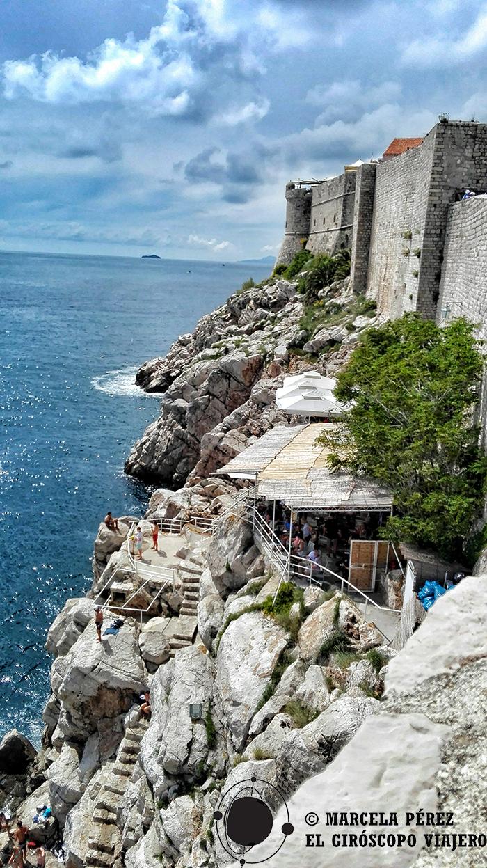 El Bar Buza y sus fascinantes vistas al Adriático