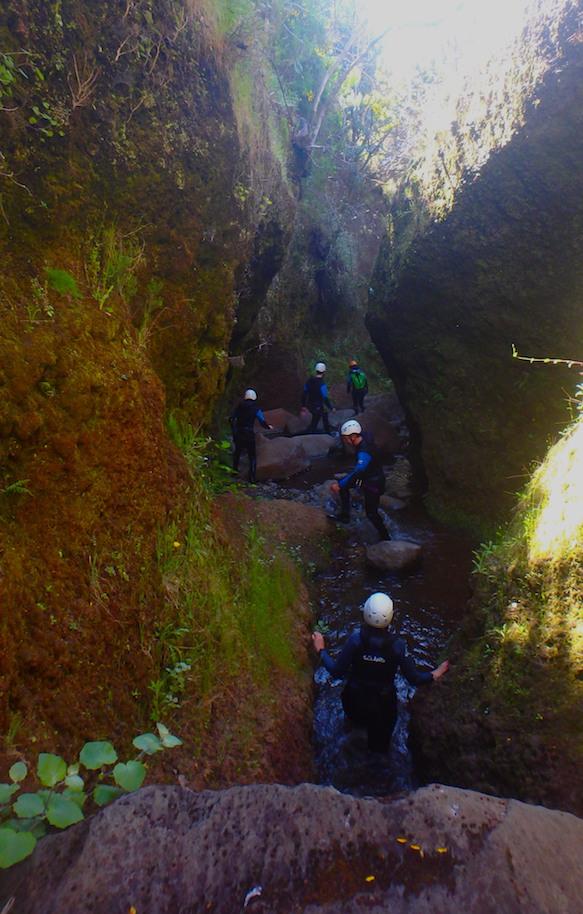 En el Cañón de Ribeira de Cales, Madeira. ©Epic Madeira.