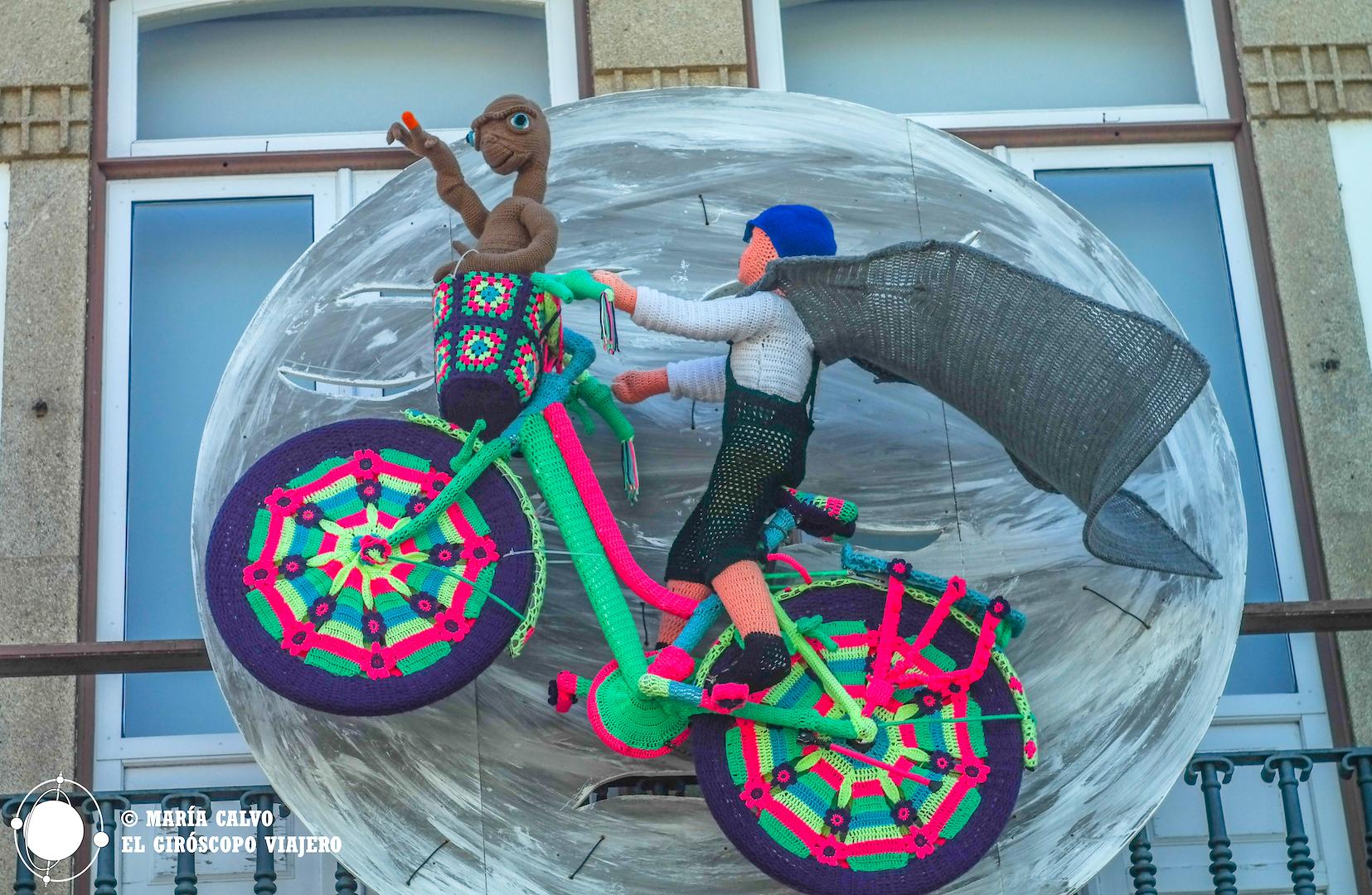E.T. y Elliott volando por los cielos de Vilanova de Cerveira
