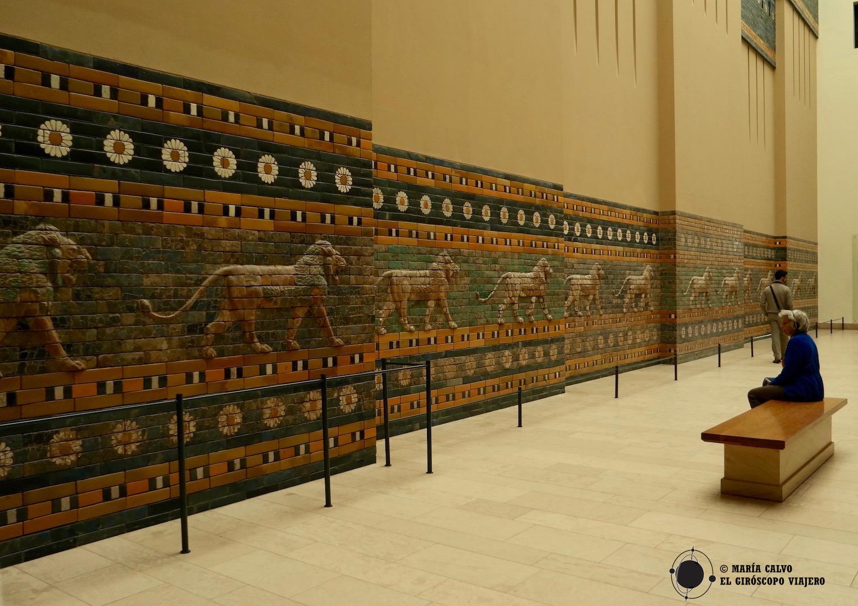 Los frisos de lapislázuli de la avenida procesional de Ishtar