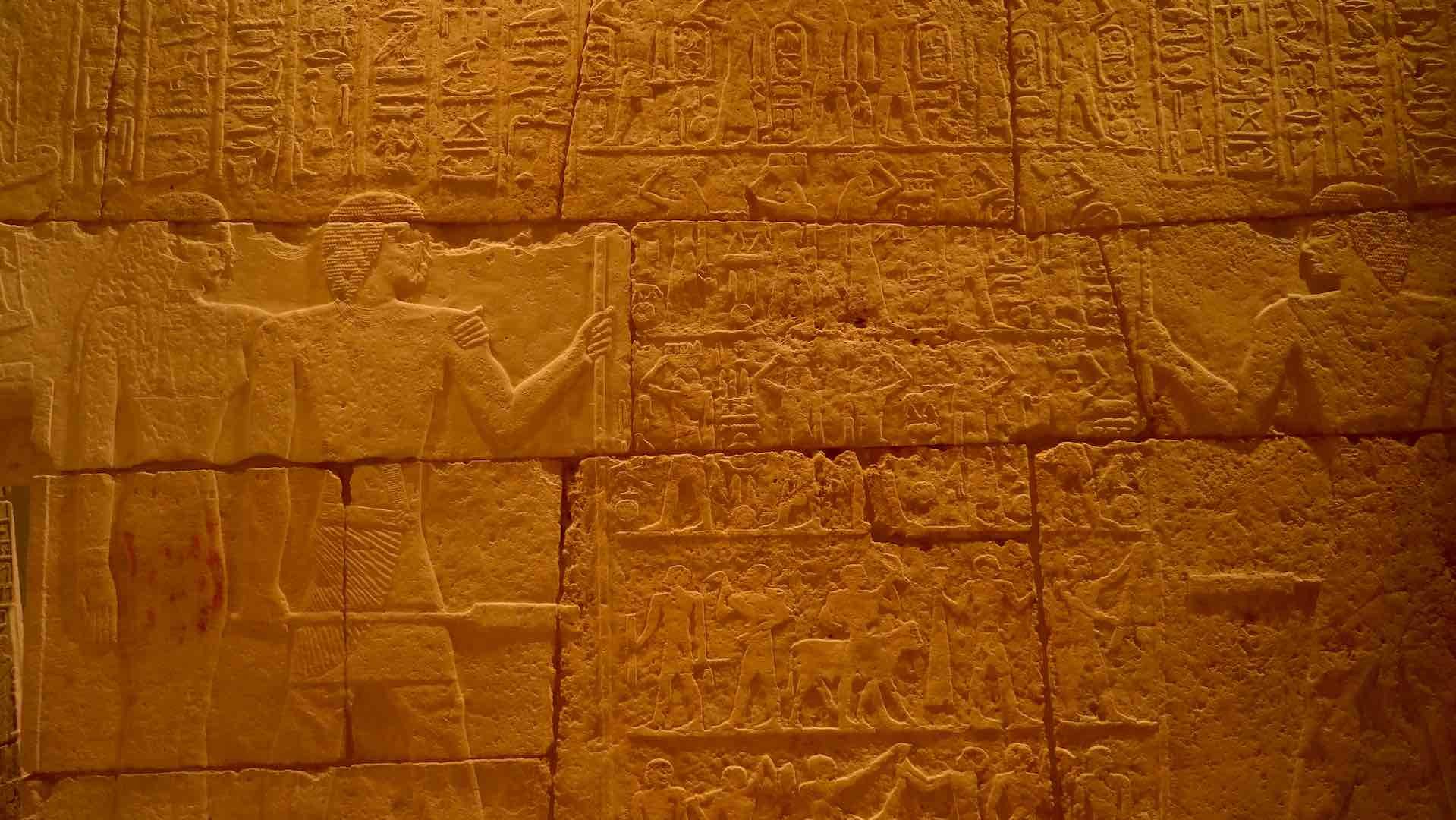 Detalles de la magnífica mastaba de Merib, en el Neues Museum