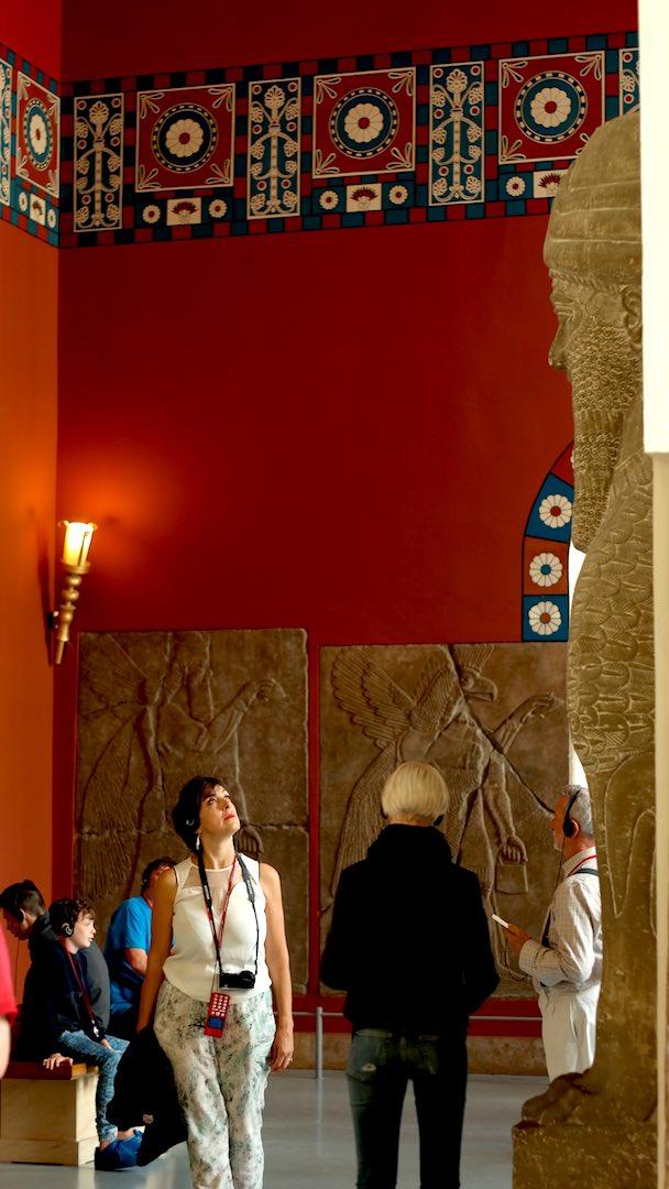 En el Pergamonmuseum admirando las obras mesopotámicas
