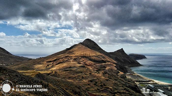 Porto Santo, es como montañoso, pero lo breve de su escarpado terreno nos regala éstas vistas