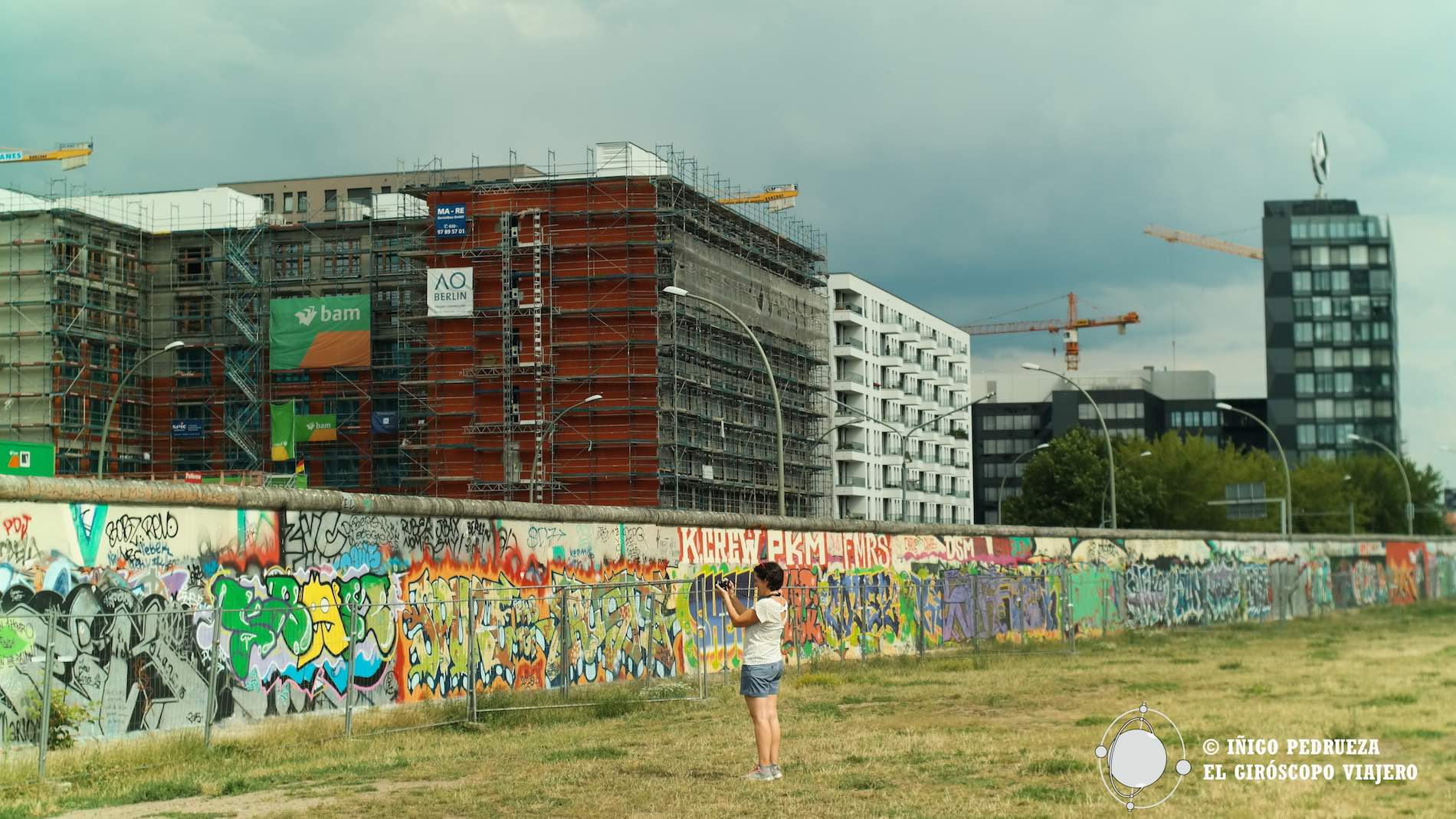 Muro de Berlin en la Mulherstrasse. ©Iñigo Pedrueza.