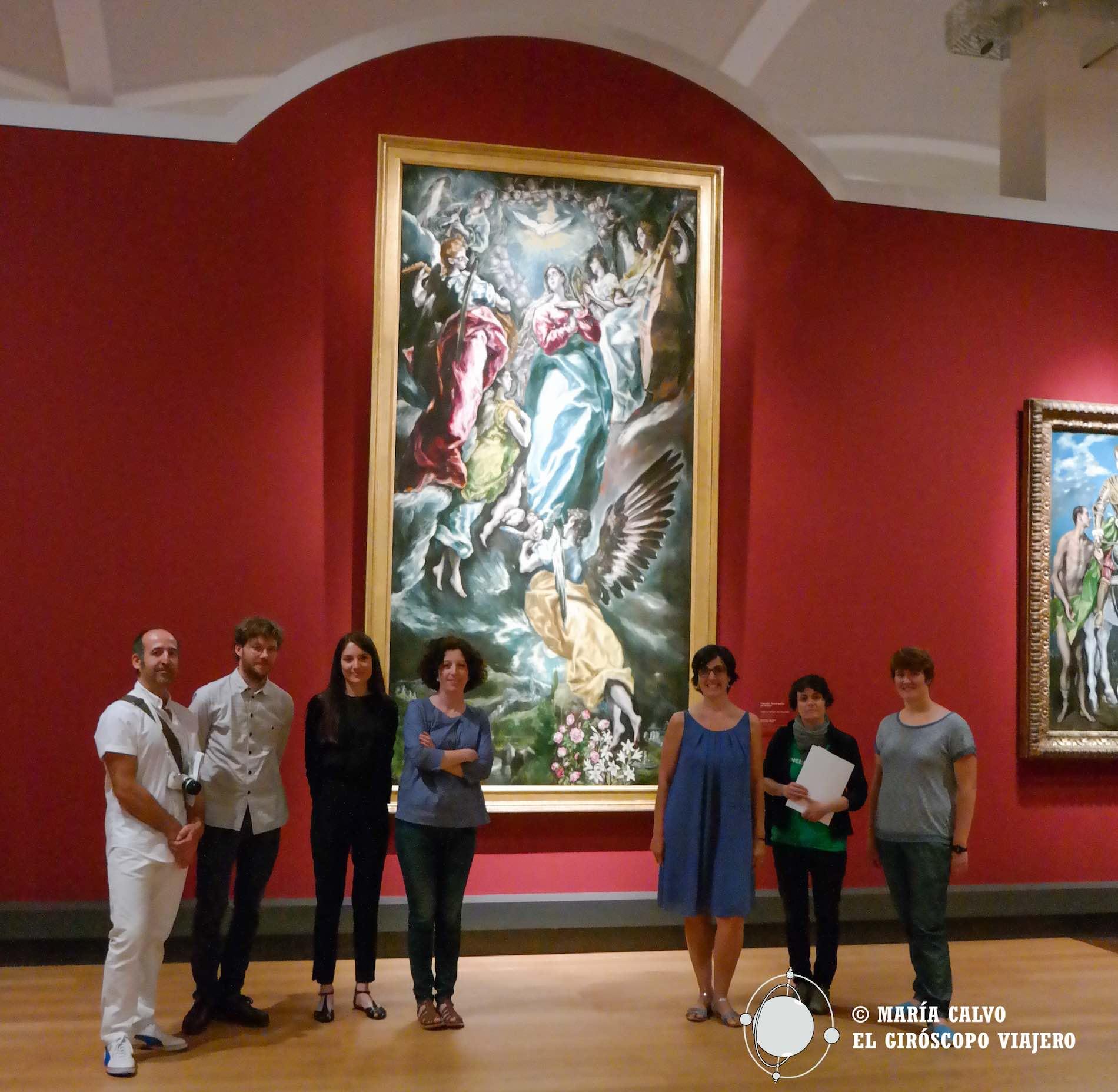 Con María Lopez-Fanjul, comisario de la espectacular exposición del Siglo de Oro en la Gemaldegallerie.