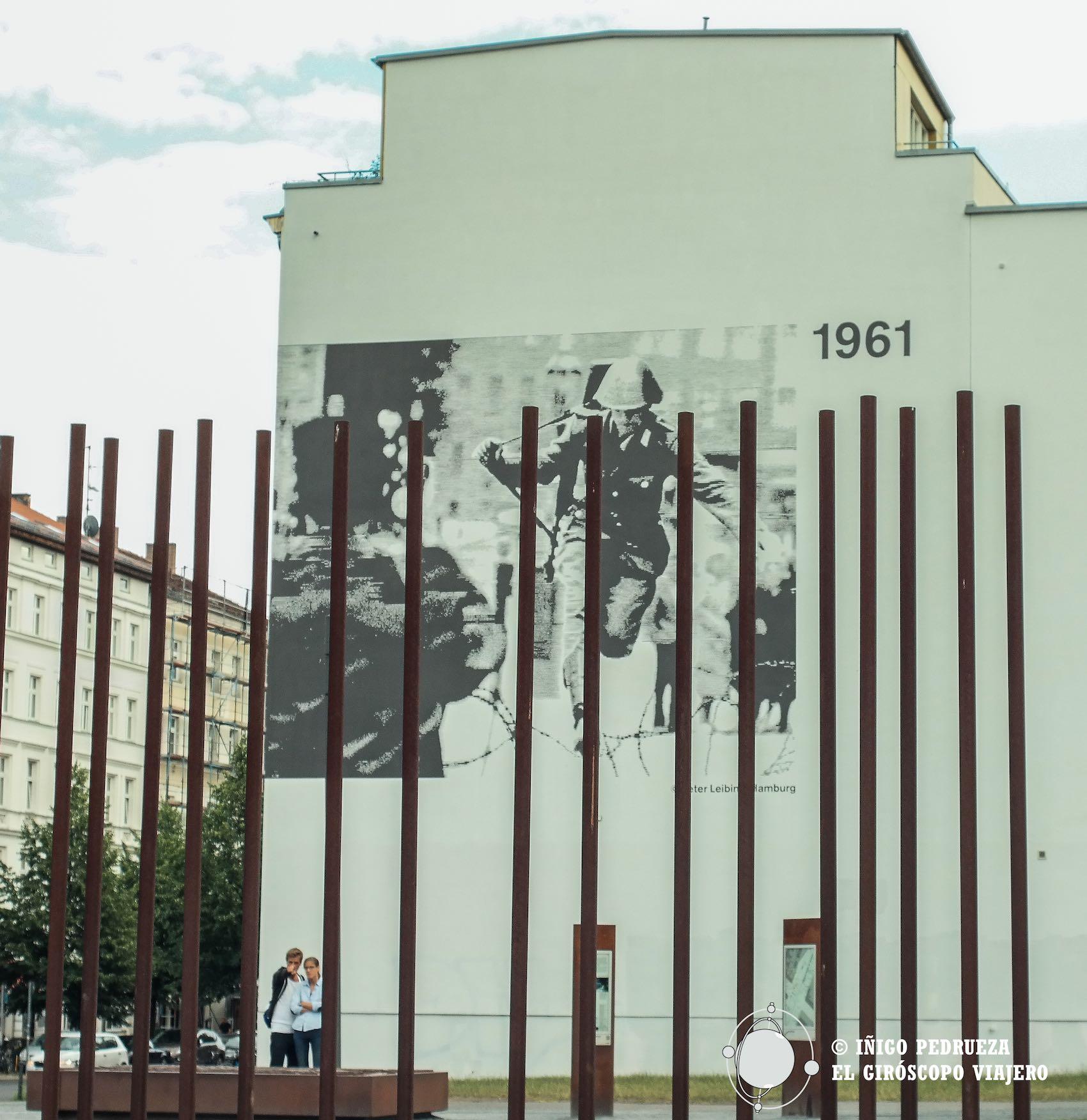 El muro de frontera y límite se ha convertido en museo de memoria y recuerdo. @Iñigo Pedrueza.