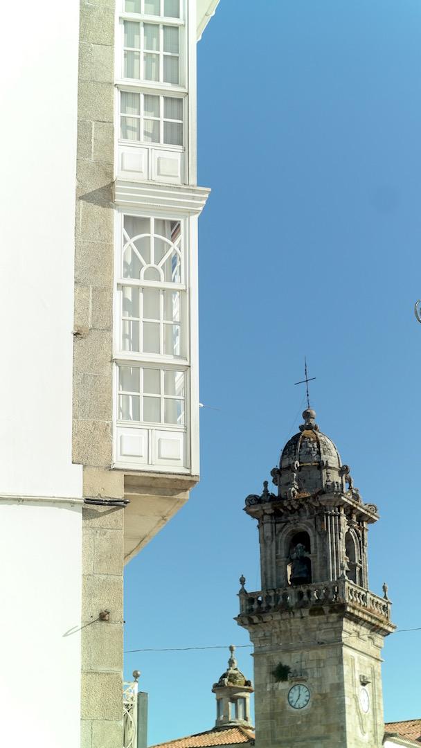 La torre desde donde se hace el lanzamiento del globo de Betanzos