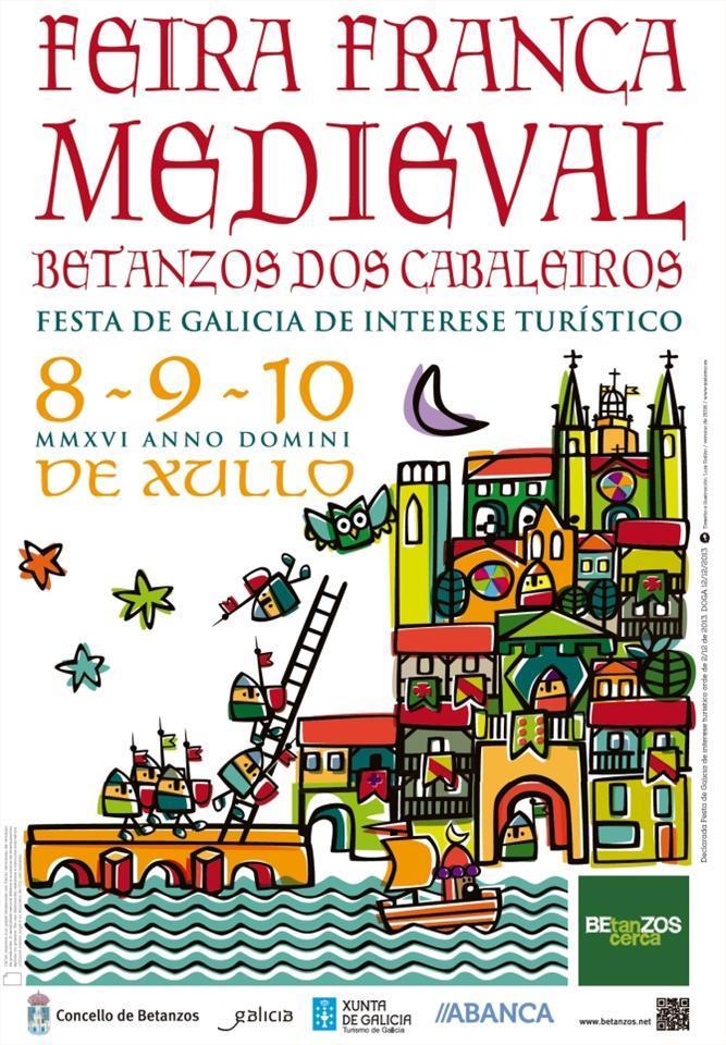 Cartel de la Feira Franca medieval de Betanzos