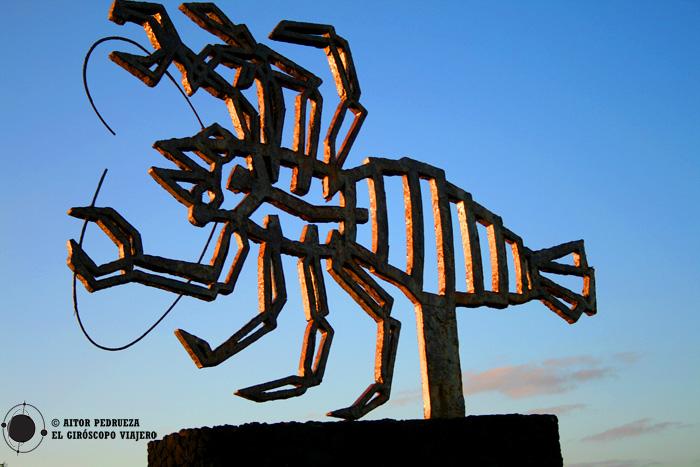 Escultura del cangrejo, obra de Cesar Manrique