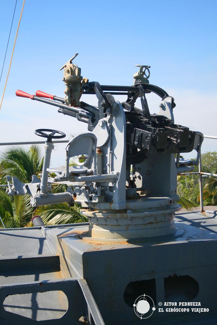 Artillería del Cañonero Guanajuato