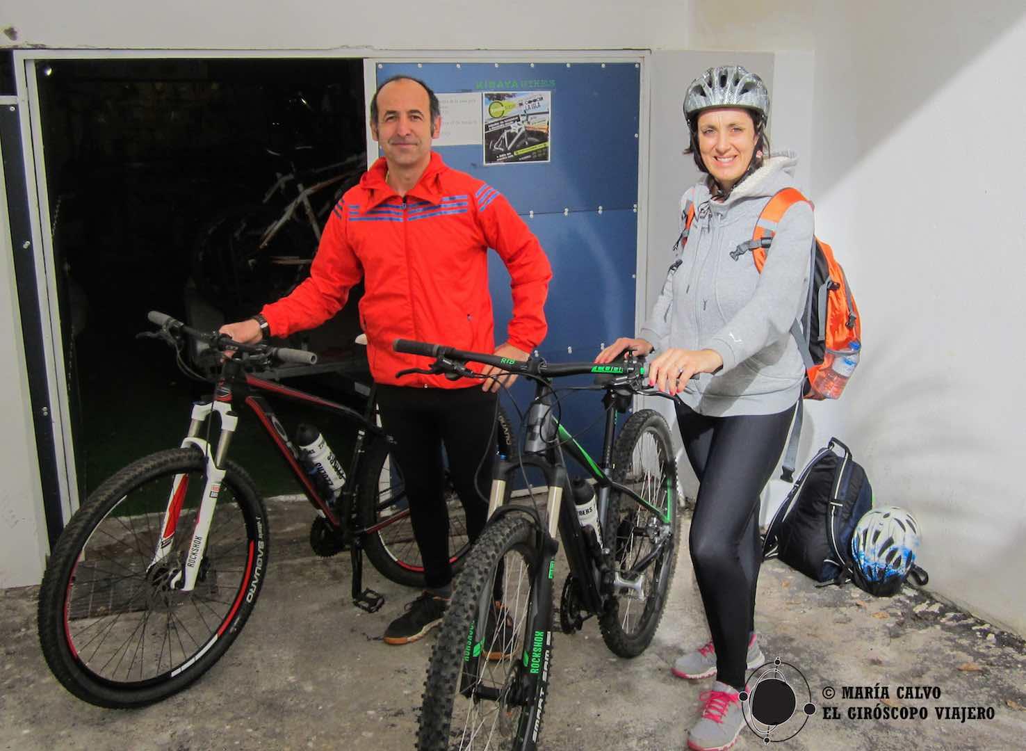 Preparados para nuestra ruta en bici por Tenerife