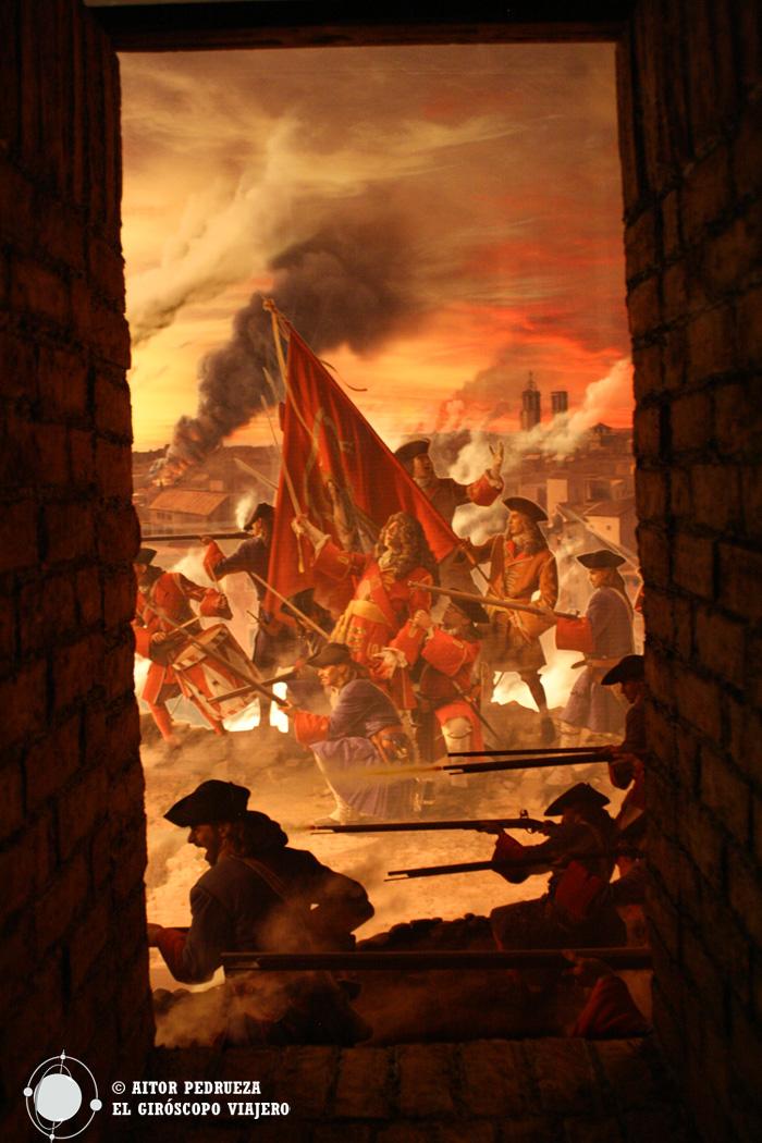 Recreación del asedio a Barcelona durante la Guerra de Sucesión