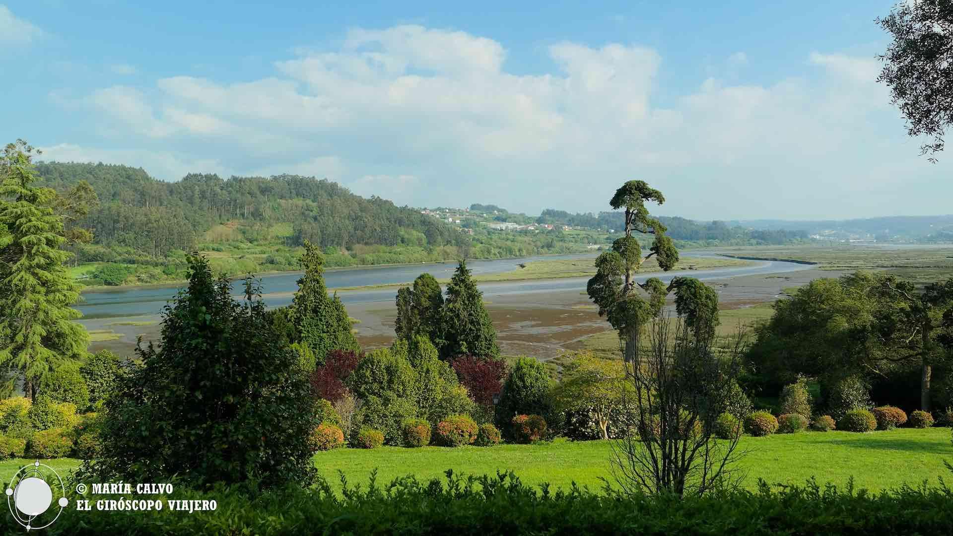 Las marismas de la ría de Betanzos que se adentra a las tierras del interior de Galicia para convertirse en el río Mandeo