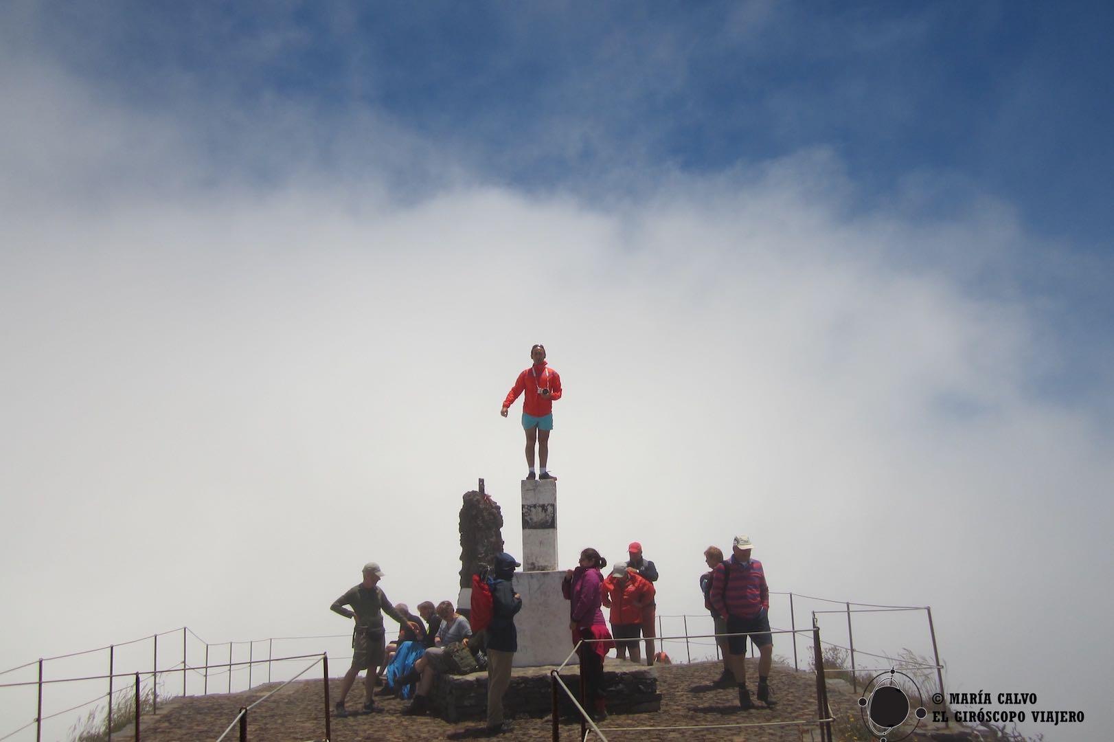 Hoy no podemos ver las panorámicas desde Pico Ruivo, la cima de Madeira