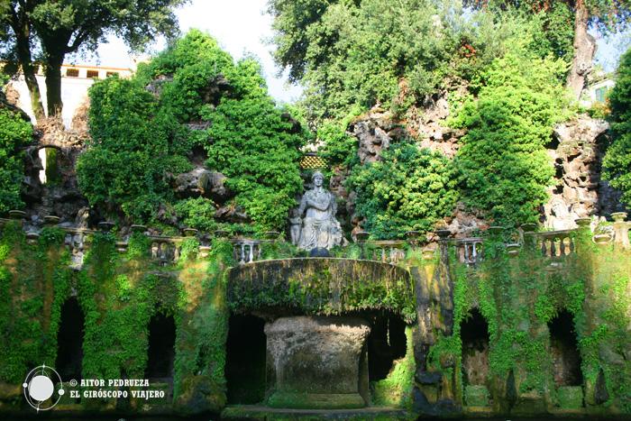 Fuente del órgano en los jardines de Villa d'Este
