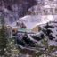 Las aguas termales de Saint Thomas (Pirineos) bajo la nieve
