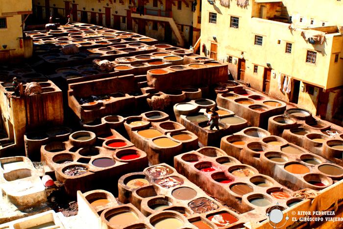 Curtiduria Chouwara, la más famosa de Fez