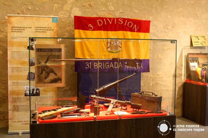 Exposición sobre las Brigadas Internacionales en el castillo de Castelldefels