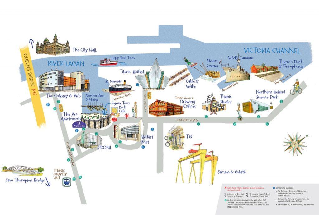 Mapa del Titanic Quarter