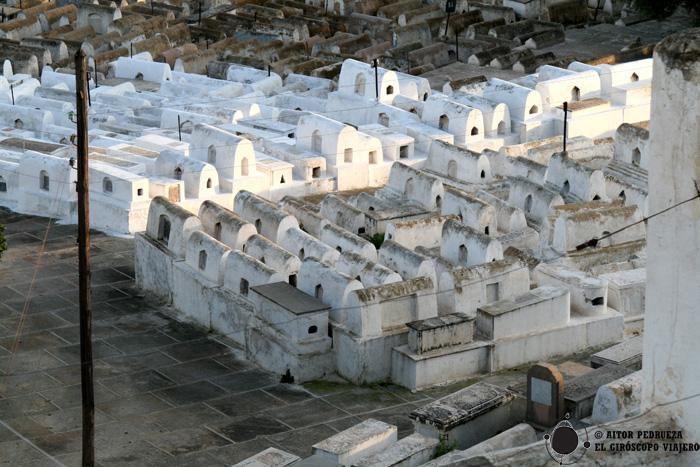 Tumbas del cementerio del barrio judío de Fez el-Jdid (Mellah)