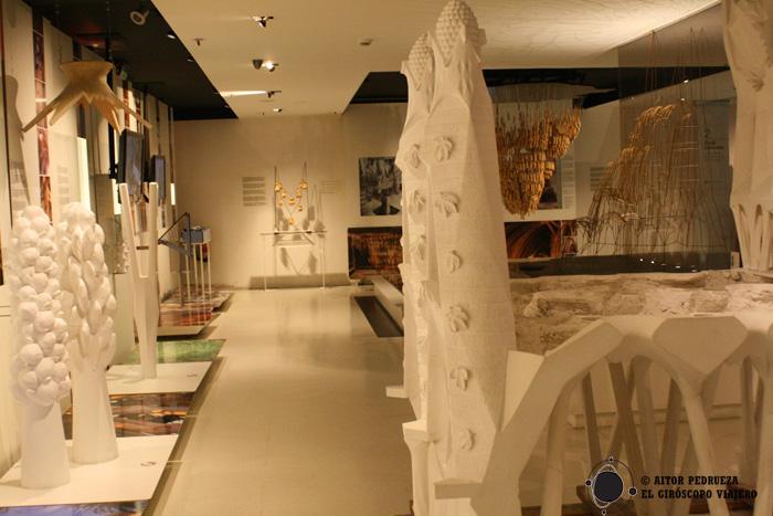 Salas de exposición del Gaudí Center de Reus