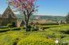 Los jardines colgantes de Marqueyssac, mirador de la Dordoña-Périgord, Francia