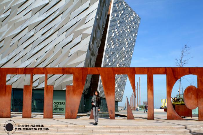 Entrada al Museo del Titanic de Belfast